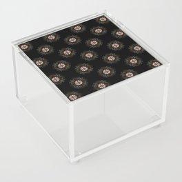 Beige Cross Flower Pattern Acrylic Box