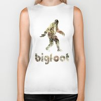 bigfoot Biker Tanks featuring Bigfoot Predator by D-fens