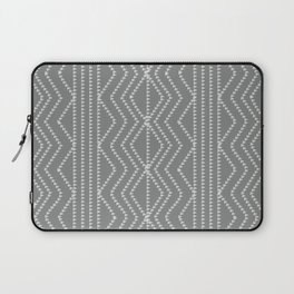 Grey White Arrows Geometric Pattern Laptop Sleeve
