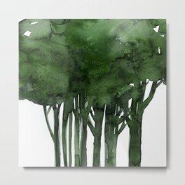 Tree Impressions No.1C by Kathy Morton Stanion Metal Print