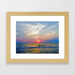 Naples Florida sunset on the Gulf of Mexico Framed Art Print