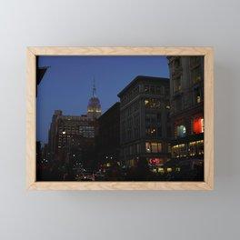 City Lights at Sunset Framed Mini Art Print