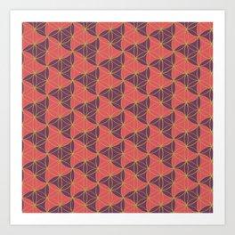 Trinity Pattern Pink Purple Art Print