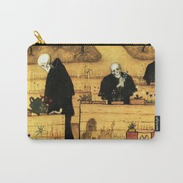 Garden of Life and Death flower and skeleton magical realism portrait painting by Hugo Simberg Carry-All Pouch