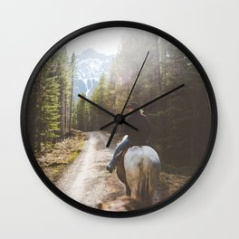 Horseback riding Wall Clock