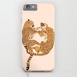 Cheetah Cuddles iPhone Case