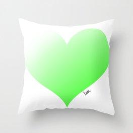 Love green Throw Pillow