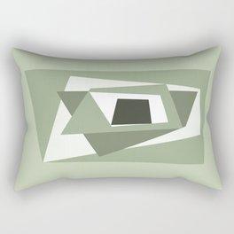 Green geometry Rectangular Pillow