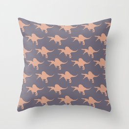 Spinosaurus comes to breakfast Throw Pillow