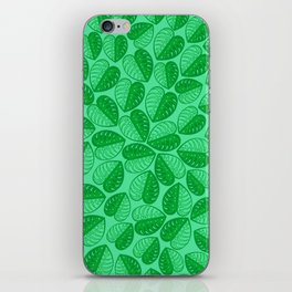 Monstera Leaf 2d Graphic Pattern iPhone Skin