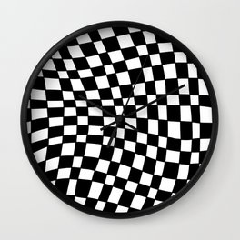 Black and White Distortion Wall Clock