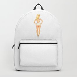 Retro Pinup Swimsuit Girl Backpack