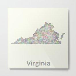 Virginia map Metal Print
