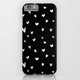 Black and White Hearts iPhone Case