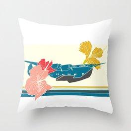 Vintage Clipper Throw Pillow