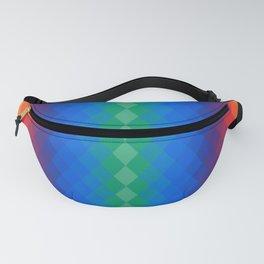 Rainbow rhombuses Fanny Pack