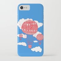 hot air balloon iPhone & iPod Cases featuring Hot Air Balloon by lush tart