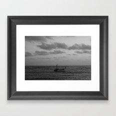 one man boat Framed Art Print