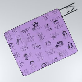 Gilmore Girls Quotes in Purple Picnic Blanket