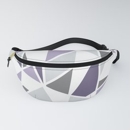 Geometric Pattern in purple and gray Fanny Pack