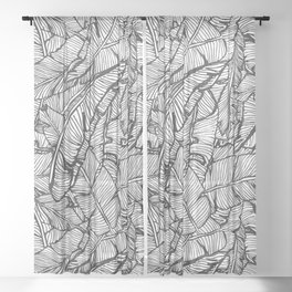 Black & White Jungle #society6 #decor #buyart Sheer Curtain