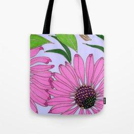 Echinacea on Lavender Tote Bag