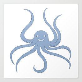 Cute octopus Art Print