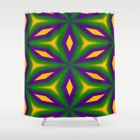 Mardi Gras Star 3598 Shower Curtain