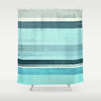 salt water Shower Curtains featuring Salt Water by T30 Gallery