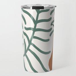 Vase With Foliage Still Life Travel Mug