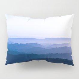 Layers Of Parallax Purple Mountains Lavender Violet ombre Gradient Landscape Minimalist Colorful Pho Pillow Sham