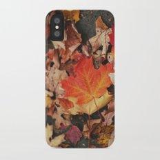 crimson leaves iPhone X Slim Case