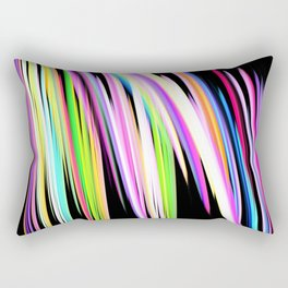 Rainbow Crayon Scribble Rectangular Pillow