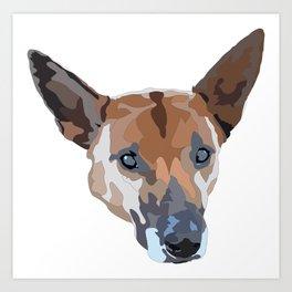 Callie Dog Art Print