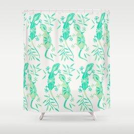 Geckos – Mint Palette Shower Curtain