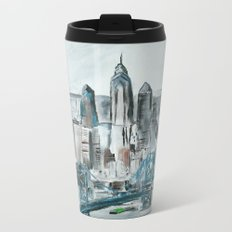 Philadelphia, Pennsylvania, USA Fine Art Acrylic Painting Metal Travel Mug
