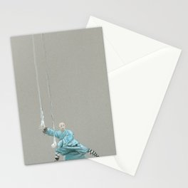 Paths to the waterfall - three - Tai Chi Stationery Cards