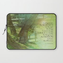 Serenity Prayer Trees, Water, Bridge Laptop Sleeve