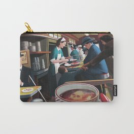 Blue Plate Special by Jeff Lee Johnson Carry-All Pouch