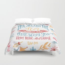 IT'S ALWAYS THE FEAR Duvet Cover