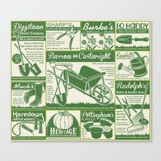 Gardening Tool Advertising Canvas Print