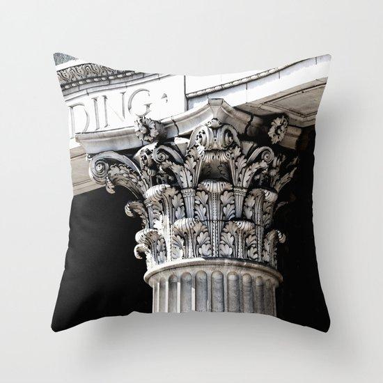 Classic architectural column Throw Pillow