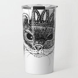 flapper weasel wearing a glittering tiara Travel Mug
