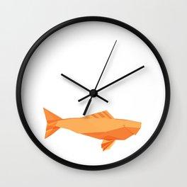 Origami Carp Wall Clock