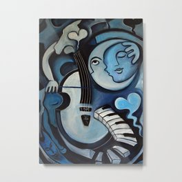 Black & Bleu Metal Print