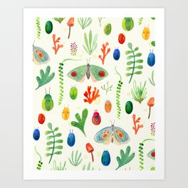 Jungle Moths - Day Art Print