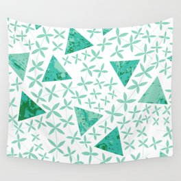 Shapes in Nature : Mint Wall Tapestry