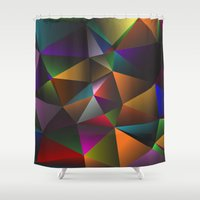 triangles Shower Curtains featuring TRIANGLES by eARTh