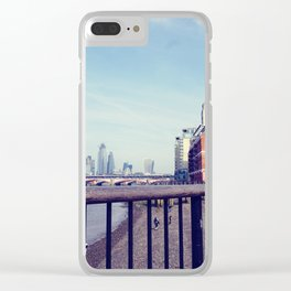 Vintage london skyline Clear iPhone Case