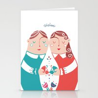 sister Stationery Cards featuring Sister by Michela Gaburro
